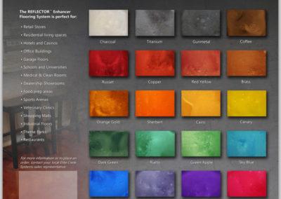 Reflector Color Chart