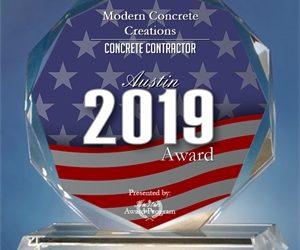 Modern Concrete Creations Receives 2019 Austin Award